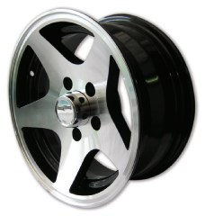 Alloy Trailer Wheel Rims - Complete with Chrome Centre Cap