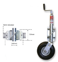 "Jockey Wheel - 350mm x 4"" Pneumatic Tyre"